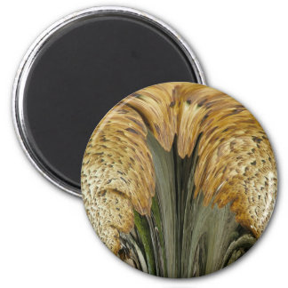 Brown Striped Shelf Fungus Coordinating Items 2 Inch Round Magnet
