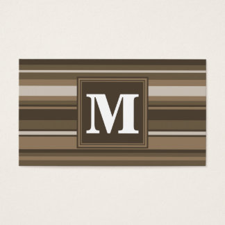 Brown stripes business card