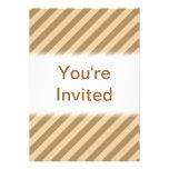 Brown Stripes. Custom Invites