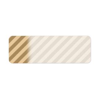 Brown Stripes. Label