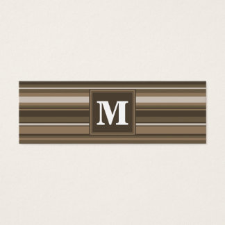 Brown stripes mini business card