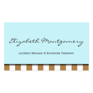 Brown Stripes Modern Appointment Business Card
