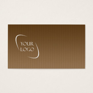 Brown stripes sleek logo placement business cards