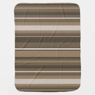 Brown stripes swaddle blanket
