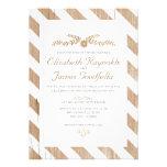 Brown Stripes Wedding Invitations Invites