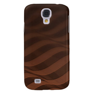 Brown Stripy Ripple Samsung Galaxy S4 Cover
