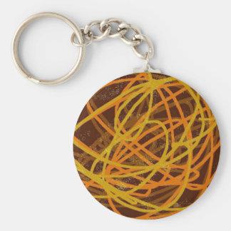 brown stuff basic round button keychain