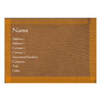 Brown Stylish Border n Surface Large Business Card
