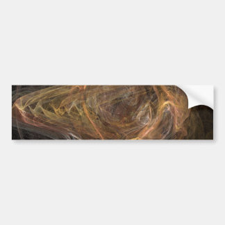 Brown Sublime Abstract Design Car Bumper Sticker