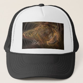 Brown Sublime Abstract Design Trucker Hat