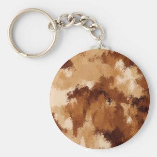 Brown Suede Keychain