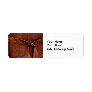 Brown Suede With Strap And Buckle address label