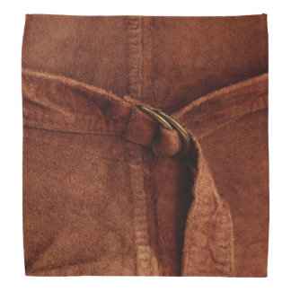 Brown Suede With Strap And Buckle Bandana