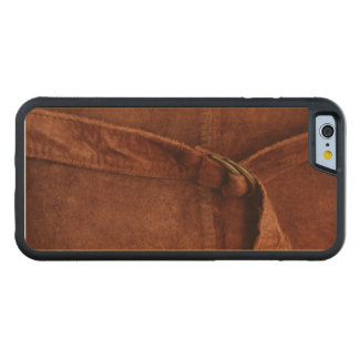 Brown Suede With Strap And Buckle Carved® Maple iPhone 6 Bumper Case