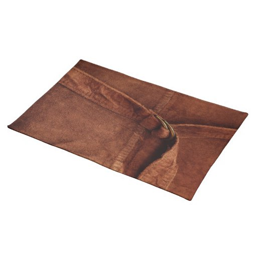 Brown Suede With Strap And Buckle Cloth Placemat