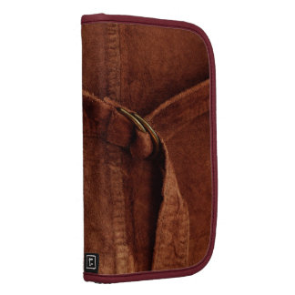 Brown Suede With Strap And Buckle Folio Planners