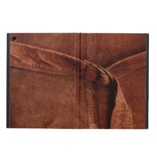 Brown Suede With Strap And Buckle iPad Air Case