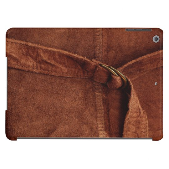 Brown Suede With Strap And Buckle iPad Air Cover