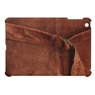 Brown Suede With Strap And Buckle Cover For The iPad Mini