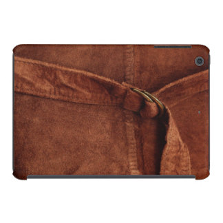 Brown Suede With Strap And Buckle iPad Mini Cases