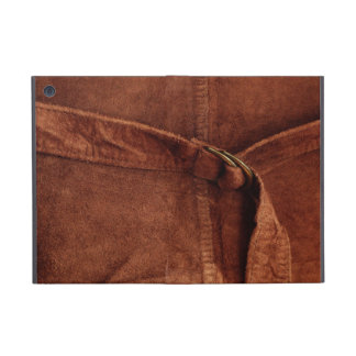 Brown Suede With Strap And Buckle iPad Mini Covers