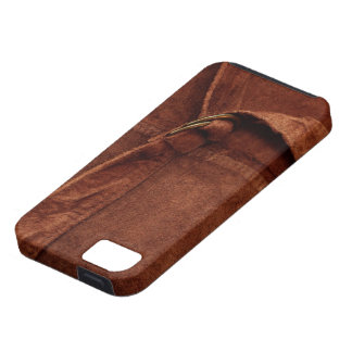 Brown Suede With Strap And Buckle iPhone 5 Cases