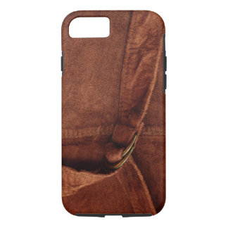 Brown Suede With Strap And Buckle iPhone 7 Case