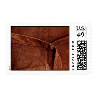 Brown Suede With Strap And Buckle – Medium Stamp