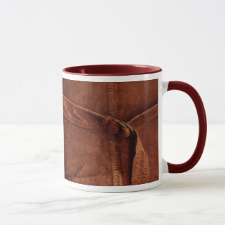 Brown Suede With Strap And Buckle Mug