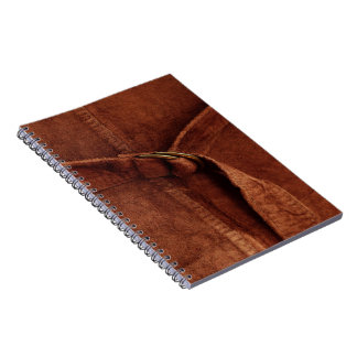 Brown Suede With Strap And Buckle Notebook