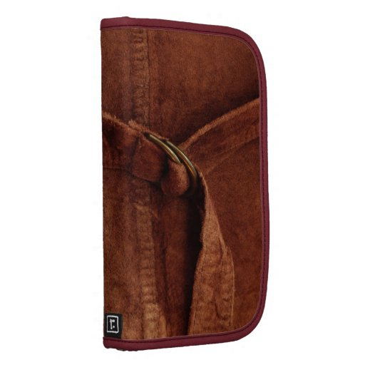 Brown Suede With Strap And Buckle Planners