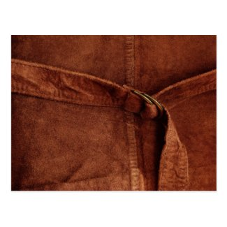 Brown Suede With Strap And Buckle Post Cards