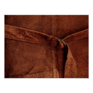 Brown Suede With Strap And Buckle Poster