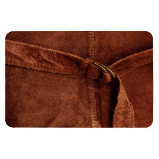 Brown Suede With Strap And Buckle Rectangular Photo Magnet