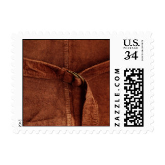 Brown Suede With Strap And Buckle – Small Postage Stamp