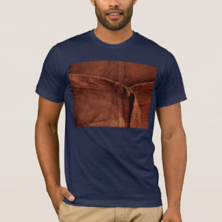Brown Suede With Strap And Buckle T-Shirt