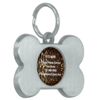 Brown Sugar Animal Print Pet Name Tag