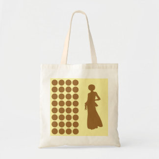 Brown Sugar Cream Neutral Dots Fashion Silhouette Tote Bag
