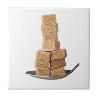 Brown sugar cubes tile