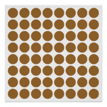 Brown Sugar Neutral Dots Poster