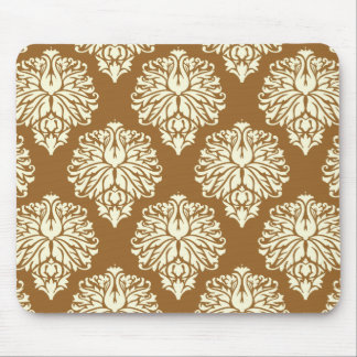 Brown Sugar Southern Cottage Damask Mouse Pad