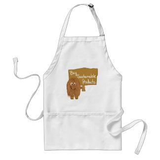 Brown sustainable products adult apron