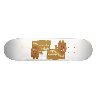 Brown sustainable products skateboard deck