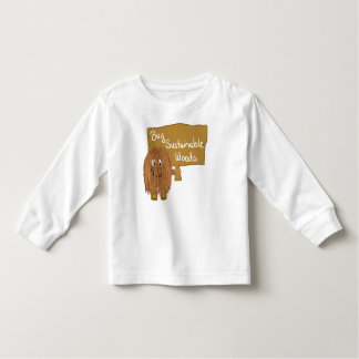 Brown sustainable woods toddler t-shirt