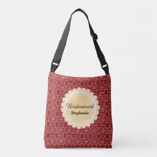 Brown Swirl Bridesmaid Crossbody Bag