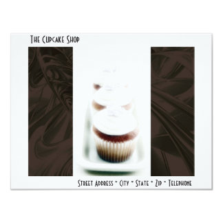 Brown Swirl Cupcake Business Products Card