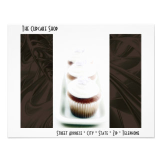 Brown Swirl Cupcake Business Products Personalized Invite