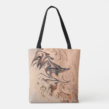 Beach Themed Brown Swirl Tote Bag