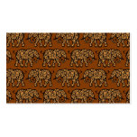 Brown Swirling Elephant Pattern Double-Sided Standard Business Cards (Pack Of 100)