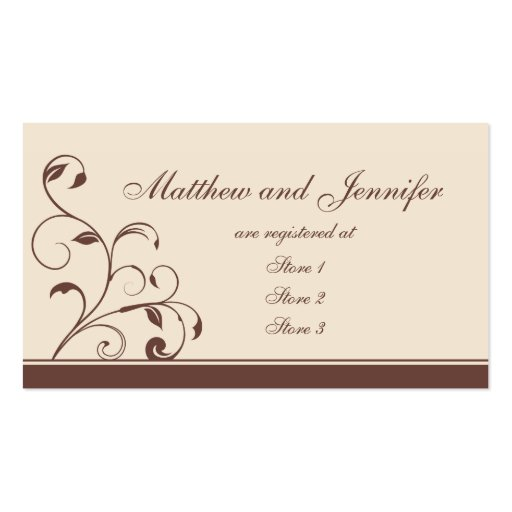 Wedding Gift Card Sample : ... and Curls Wedding Gift Registry Cards Business Card Template Zazzle